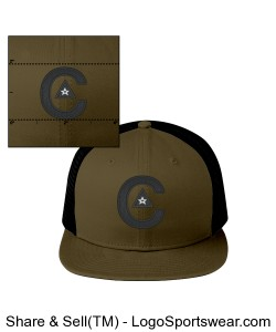 CAPtivate TRUCKER FIT_ WHO DAT! EDITION Design Zoom